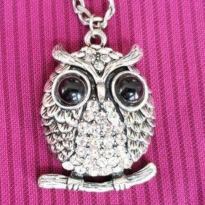 Amrita Singh Owl Necklace Animal Kingdom Collectio